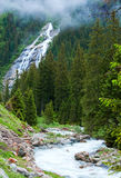 Alps waterfall summer view Stock Image