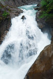 Alps waterfall summer view Stock Photography