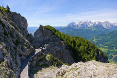Alps and the way to the Eisriesenwelt (Ice cave) in Werfen, Austria Stock Image