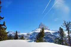Alps Winter, Dolomites, Italy, 2007 Royalty Free Stock Image