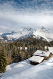 Alps winter landscape. Megeve, France stock image