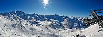 Alps Winter Panorama Stock Photo