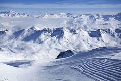 Alps Winter Panorama Stock Photos