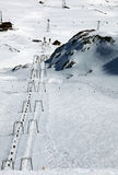 Alps Winter Panorama from the peak Royalty Free Stock Image