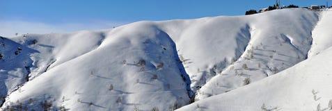 Alps winter panorama Royalty Free Stock Photos