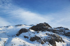 Alps in the winter ski resort of Ischgl - Mountain Alps, Austria Stock Photography