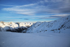 Alps in the winter ski resort of Ischgl - Mountain Alps, Austria Stock Image