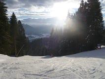Alps wschód słońca z śniegiem Obraz Stock