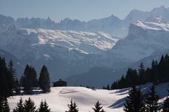 alps zima Fotografia Royalty Free