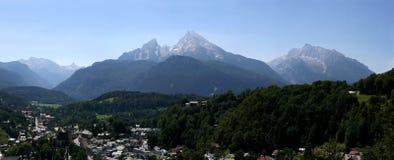 alpsbavarian berchtesgaden germany watzmann Royaltyfri Foto