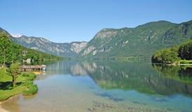 alpsbohinjlake lulian slovenia Fotografering för Bildbyråer