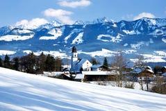Alpsby germany Arkivbild