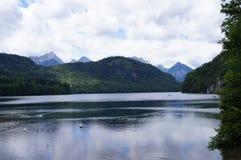 Alpsee jezioro w Bavaria Fotografia Royalty Free