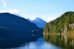 Alpsee lake in Germany. stock photo
