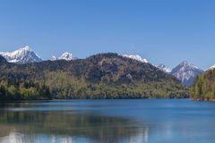 Alpsee lake at Hohenschwangau Royalty Free Stock Images