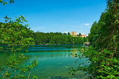 Alpsee lake at Hohenschwangau near Munich in Bavaria Royalty Free Stock Image