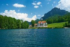 Alpsee lake at Hohenschwangau near Munich in Bavaria Stock Photo