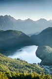 Alpsee Lake near Neuschwanstein Castle, Germany Royalty Free Stock Image