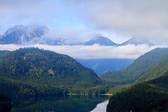 Alpsee nära Hohenschwangau Arkivfoto