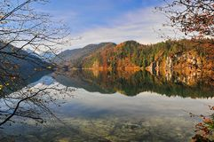 Alpsee`s Reflex royalty free stock image