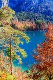 Alpsee sjö bavaria germany Arkivbild