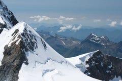 alpsjungfraujoch switzerland Arkivbilder