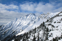 alpskant Arkivfoton
