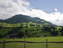 alpsliggandeschweizare Arkivfoto