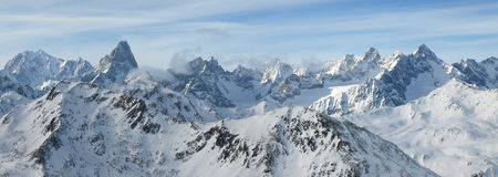 alpsliggandeserie Royaltyfri Fotografi