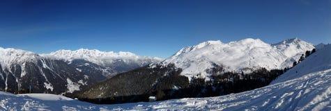 alpspanorama Royaltyfri Foto