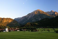 Alpspanorama Royalty-vrije Stock Afbeeldingen