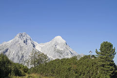 Alpspitze and Hochblassen Stock Image