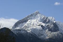 The Alpspitze nearby Garmisch-Partenkirchen Stock Images