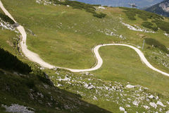 alpspitze runt om vandringsledet mt Royaltyfri Bild