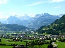 alpsschwyz switzerland Royaltyfri Fotografi