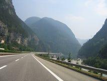 alpsväg Arkivfoto