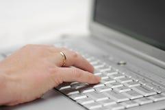 alptop στρέψτε το χέρι εκλεκτι& Στοκ Εικόνες