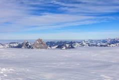 alpy aletsch bettmeralp lodowej celi w hohfluh szwajcarski Szwajcarii Valais świetle Wallis zima Zdjęcia Stock