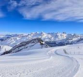 alpy aletsch bettmeralp lodowej celi w hohfluh szwajcarski Szwajcarii Valais świetle Wallis zima Zdjęcie Royalty Free