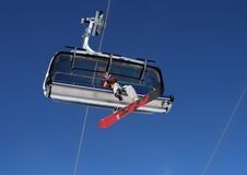 alpy snowboarding Obrazy Royalty Free