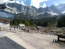 Alpy, Zugspitze, mountains landscape, stock photography