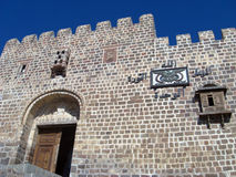 AlQaherah城堡入口 库存图片
