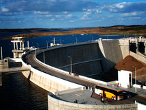 Alqueva Dam. One of the biggest dams and the biggest artificial lake in Europe, Alqueva dam represents the dream of an entire region, Alentejo, the driest and Royalty Free Stock Photos