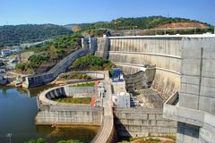 Alqueva dam in Alentejo Stock Image