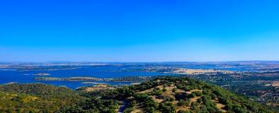 Alqueva Dam Lake, Alentejo Plain Landscape, Travel South Portugal Stock Images