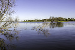 Alqueva Dam lake. It impounds the River Guadiana. Royalty Free Stock Photography