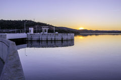 Alqueva Dam lake. It impounds the River Guadiana. Stock Images