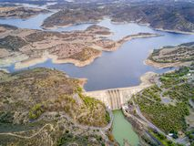Free Alqueva Dam On Guadiana River In Alentejo, Portugal Royalty Free Stock Photos - 115144218