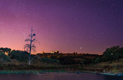 Alqueva jezioro blisko Monsaraz wioski Zdjęcie Stock