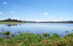 Alqueva lake near Amieira village Stock Images